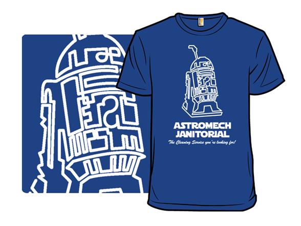 Astromech Janitorial T Shirt