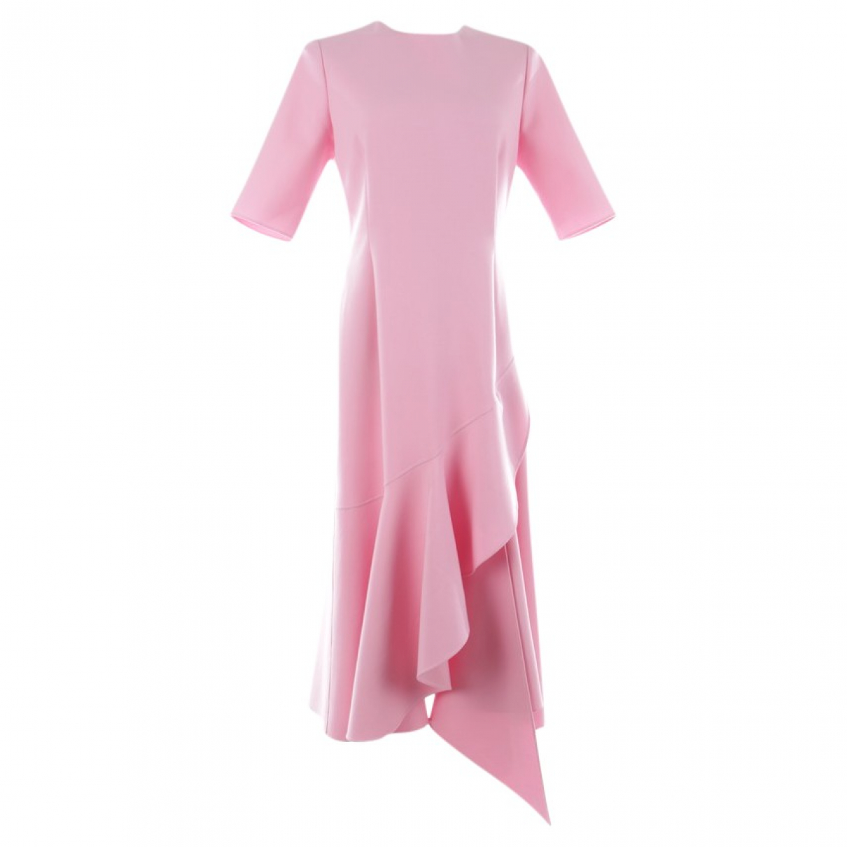 Oscar De La Renta \N Pink Cotton dress for Women 40 FR