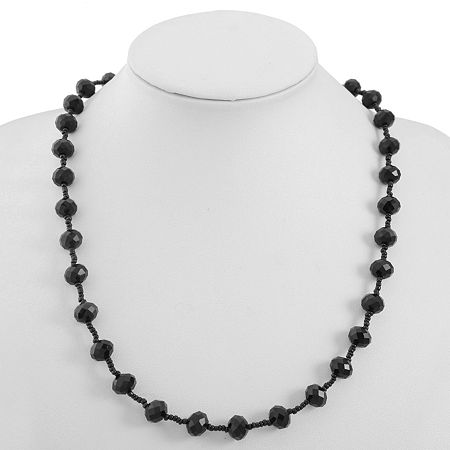 Mixit 23 Inch Cable Collar Necklace, One Size , Black