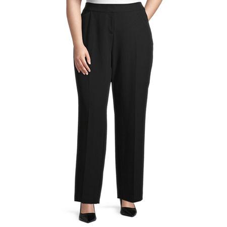 Worthington Womens Perfect Fit Trouser - Plus, 18w , Black