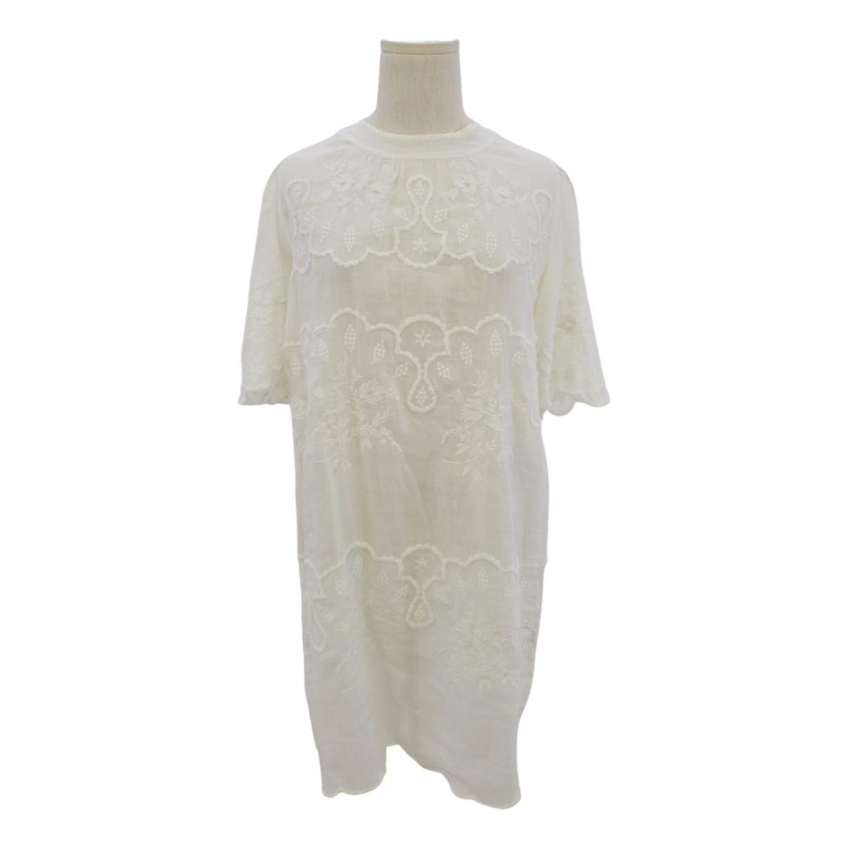 Isabel Marant \N White Linen dress for Women 38 FR