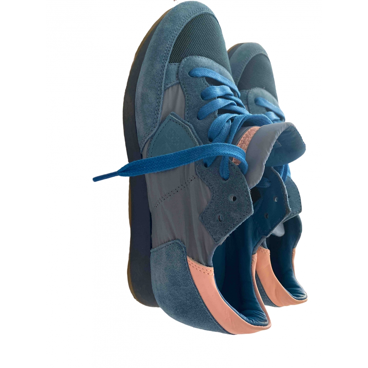 Philippe Model \N Blue Suede Trainers for Women 37 EU
