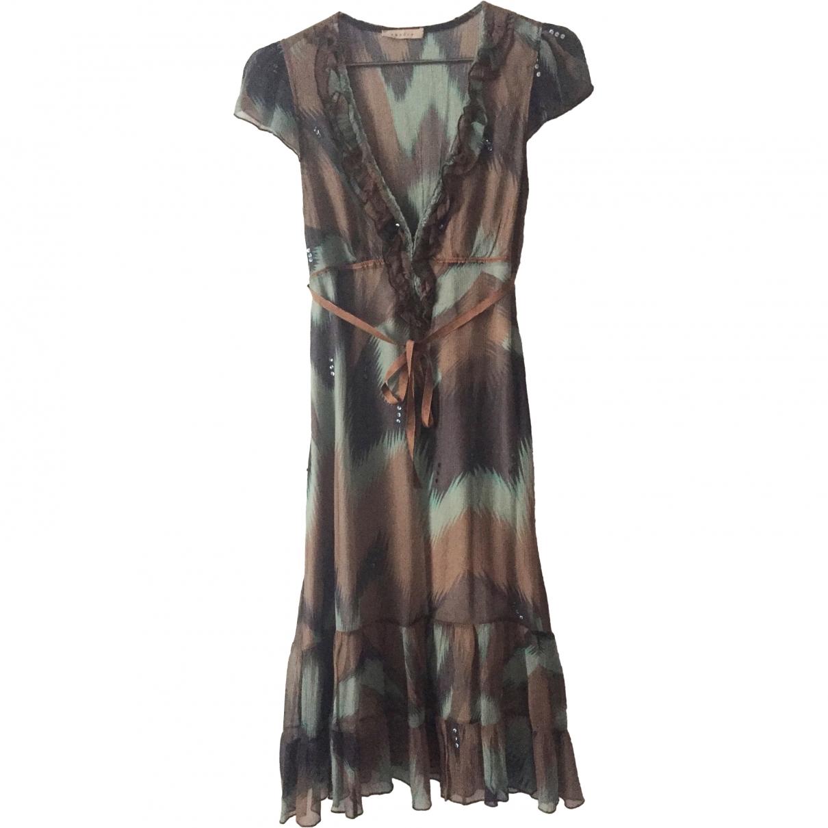 Sandro \N Brown Silk dress for Women 36 FR