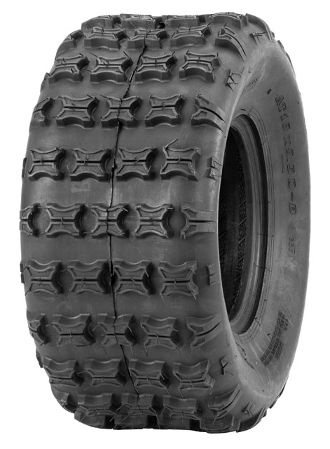 QuadBoss QBT700 Series Tires 18x9.5-8 QBT733 Bias Rear 4 Ply