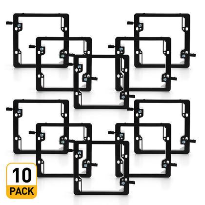 Support de montage 2 groupes faible voltage - PrimeCables® - 10pack