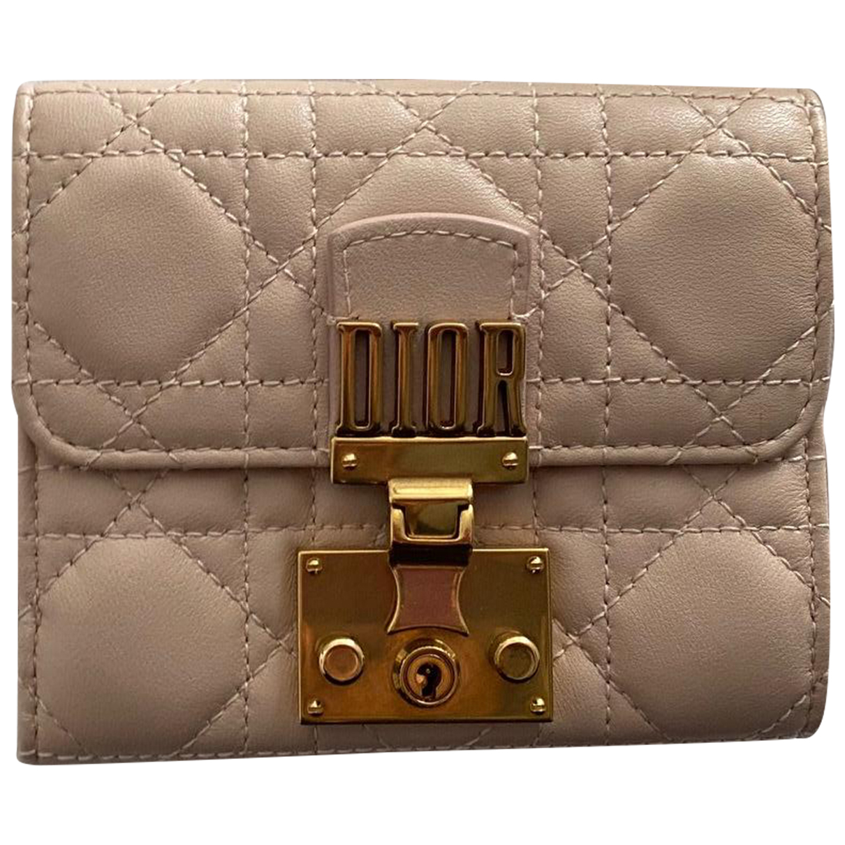 Dior \N Beige Leather Purses, wallet & cases for Women \N
