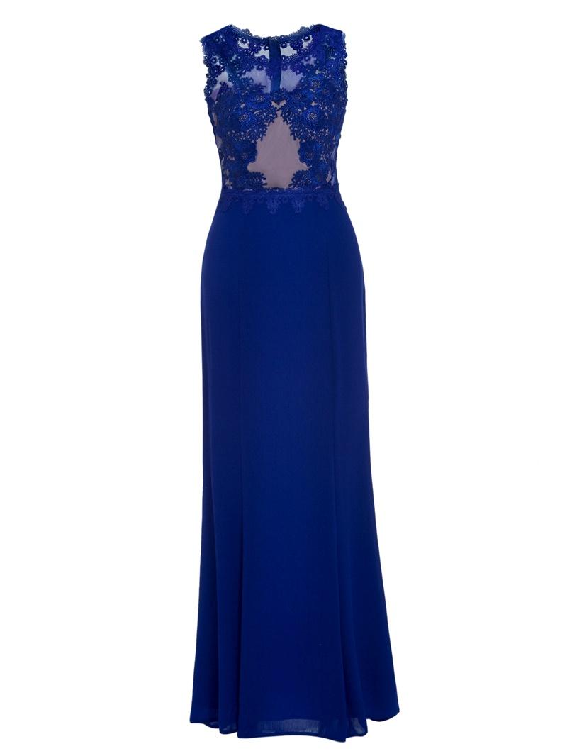 Ericdress Sheath Scoop Neck Zipper-Up Evening Dress