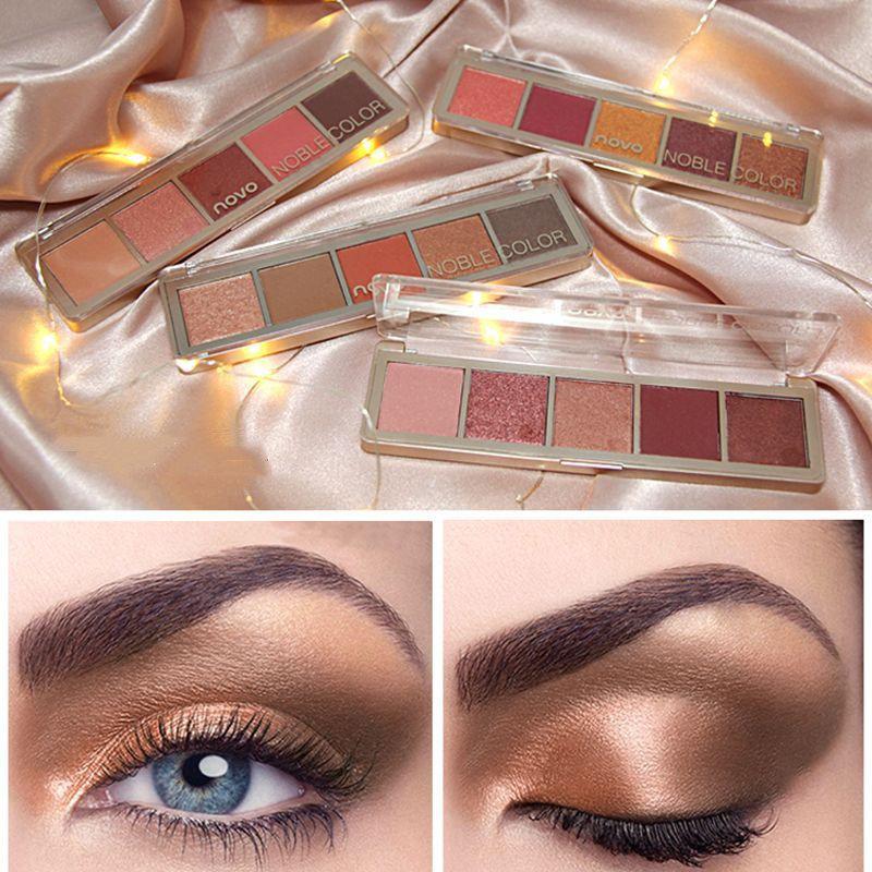 Silky Five-color Eyeshadow Palette Matte Pearlescent Eyeshadows Eyes Makeup Beauty