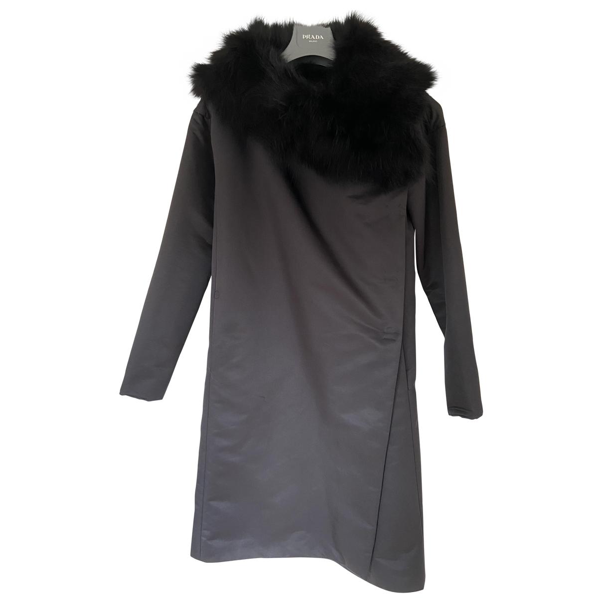 Miu Miu \N Black coat for Women 42 IT