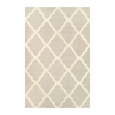 nuLoom Hand Hooked Marrakech Trellis Rug, One Size , White