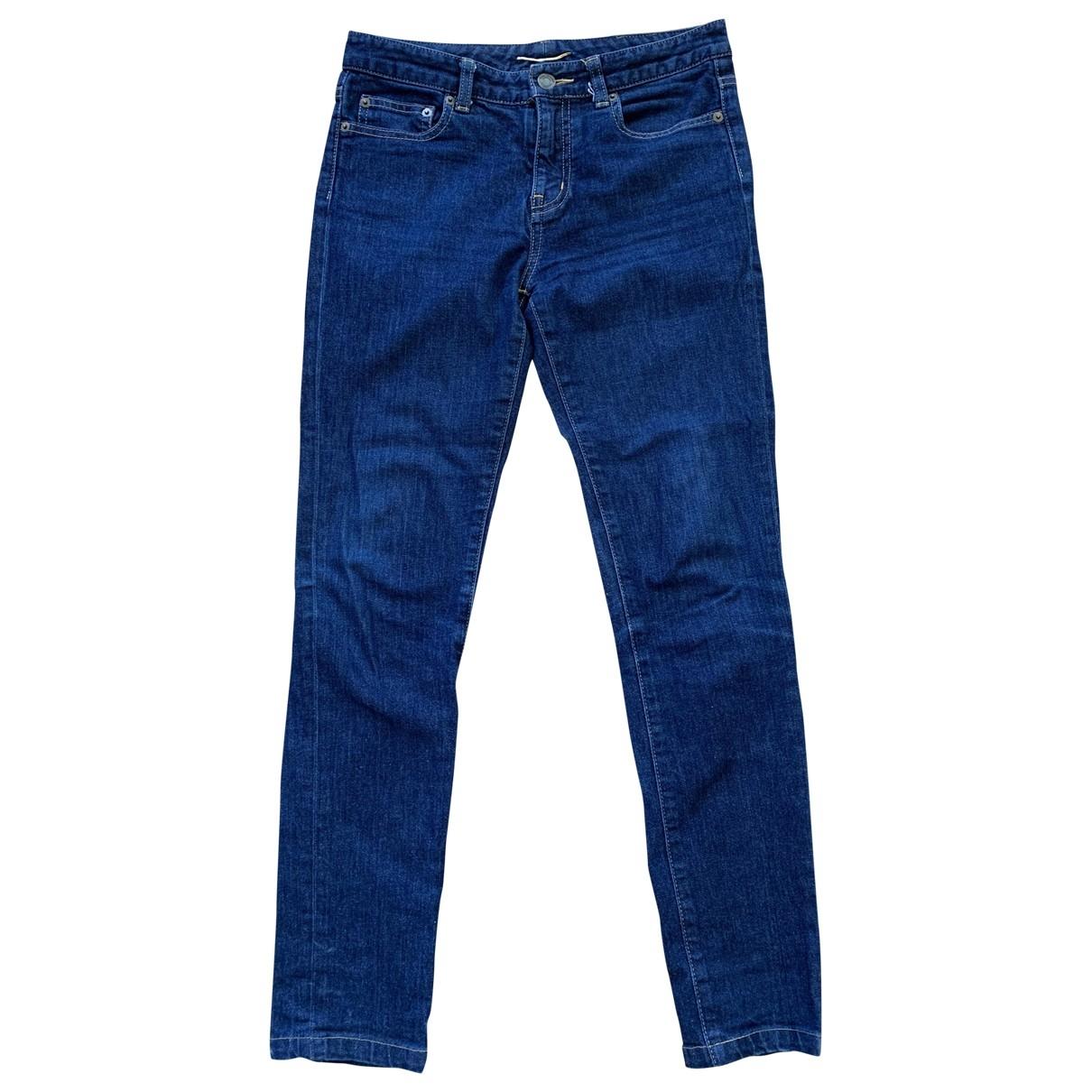 Saint Laurent \N Cotton - elasthane Jeans for Women 27 US