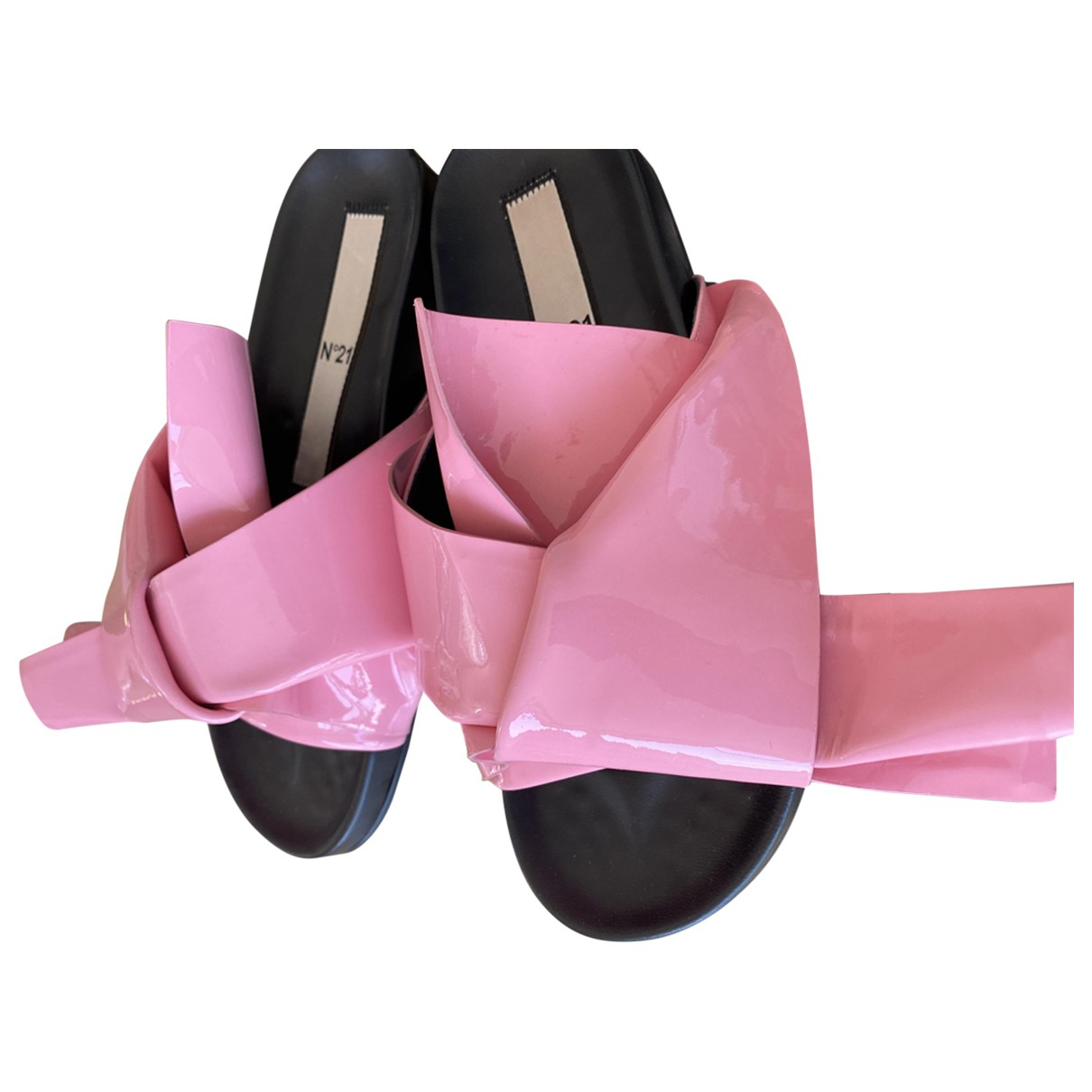 N°21 \N Pink Patent leather Sandals for Women 37 EU