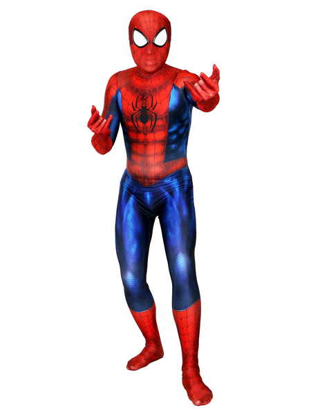 Milanoo Marvel Comics Spider Man Cosplay Spiderman Red Film Jumpsuit Marvel Comics Jumpsuit