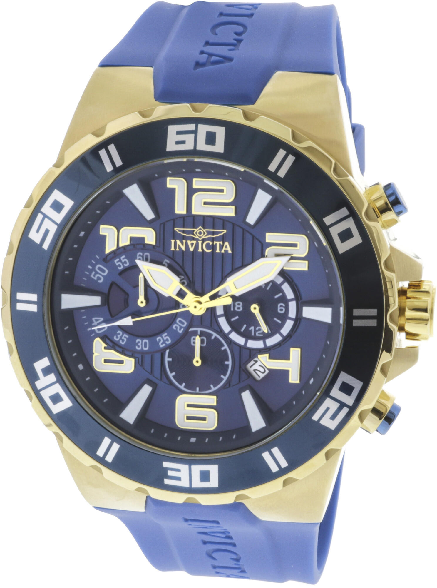 Invicta Men's 24670 Gold Silicone Japanese Chronograph Diving Watch
