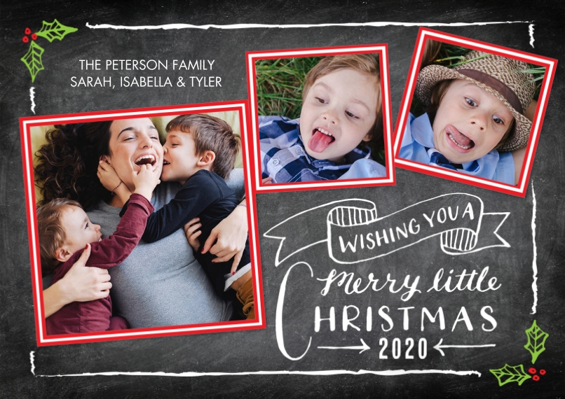 Christmas Photo Cards 5x7 Cards, Premium Cardstock 120lb with Elegant Corners, Card & Stationery -2020 Christmas Rustic Banner by Tumbalina
