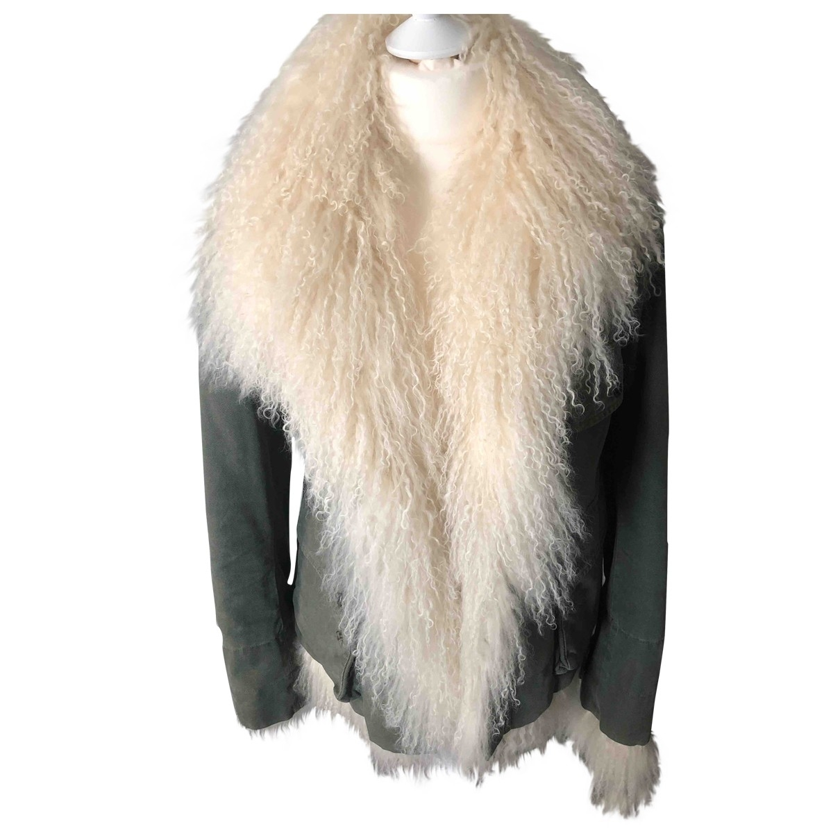 Ermanno Scervino \N Green Mongolian Lamb jacket for Women 42 IT