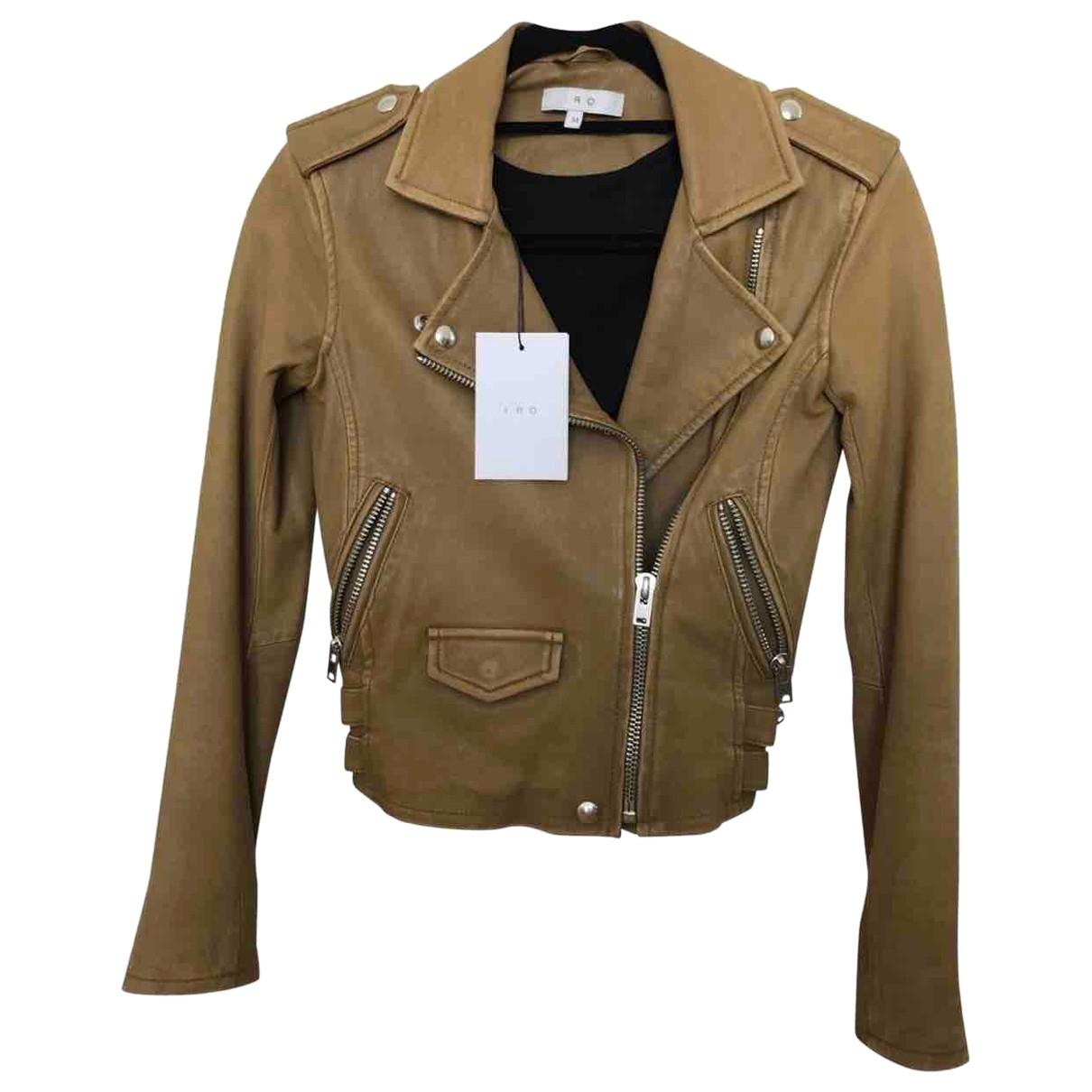 Iro Spring Summer 2019 Khaki Leather Leather jacket for Women 34 FR