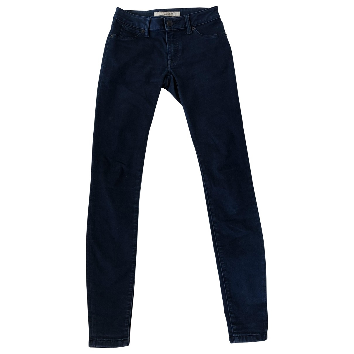 Burberry \N Blue Cotton - elasthane Jeans for Women 25 US