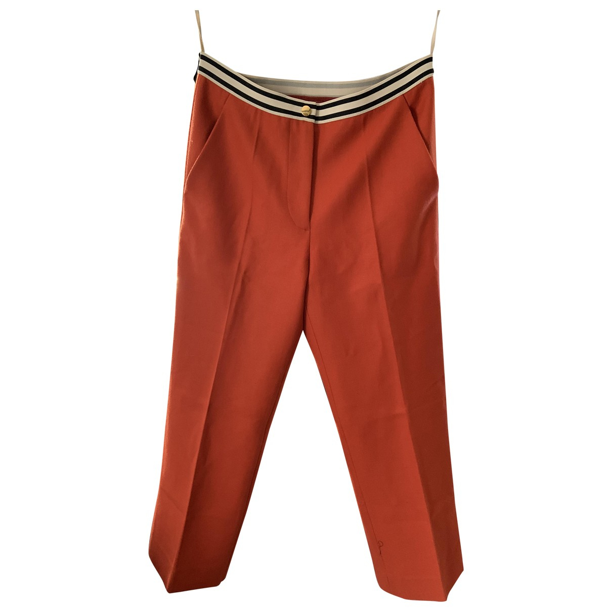 Marni \N Orange Wool Trousers for Women 40 IT