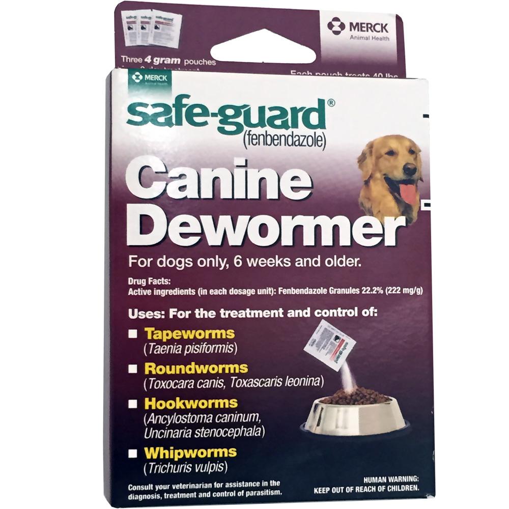 Merck Safeguard (fenbendazole) Canine Dewormer 3-pack (4 gm)