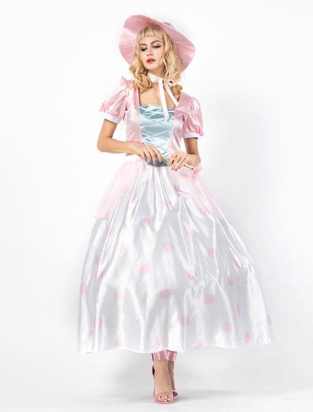 Milanoo Fairytale Princess Costume Halloweem Women Pink Dresses Set Halloween