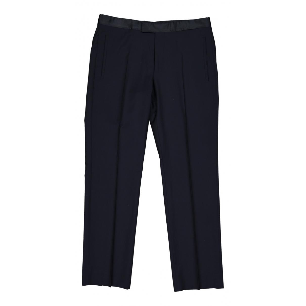 Prada \N Navy Wool Trousers for Men 50 IT