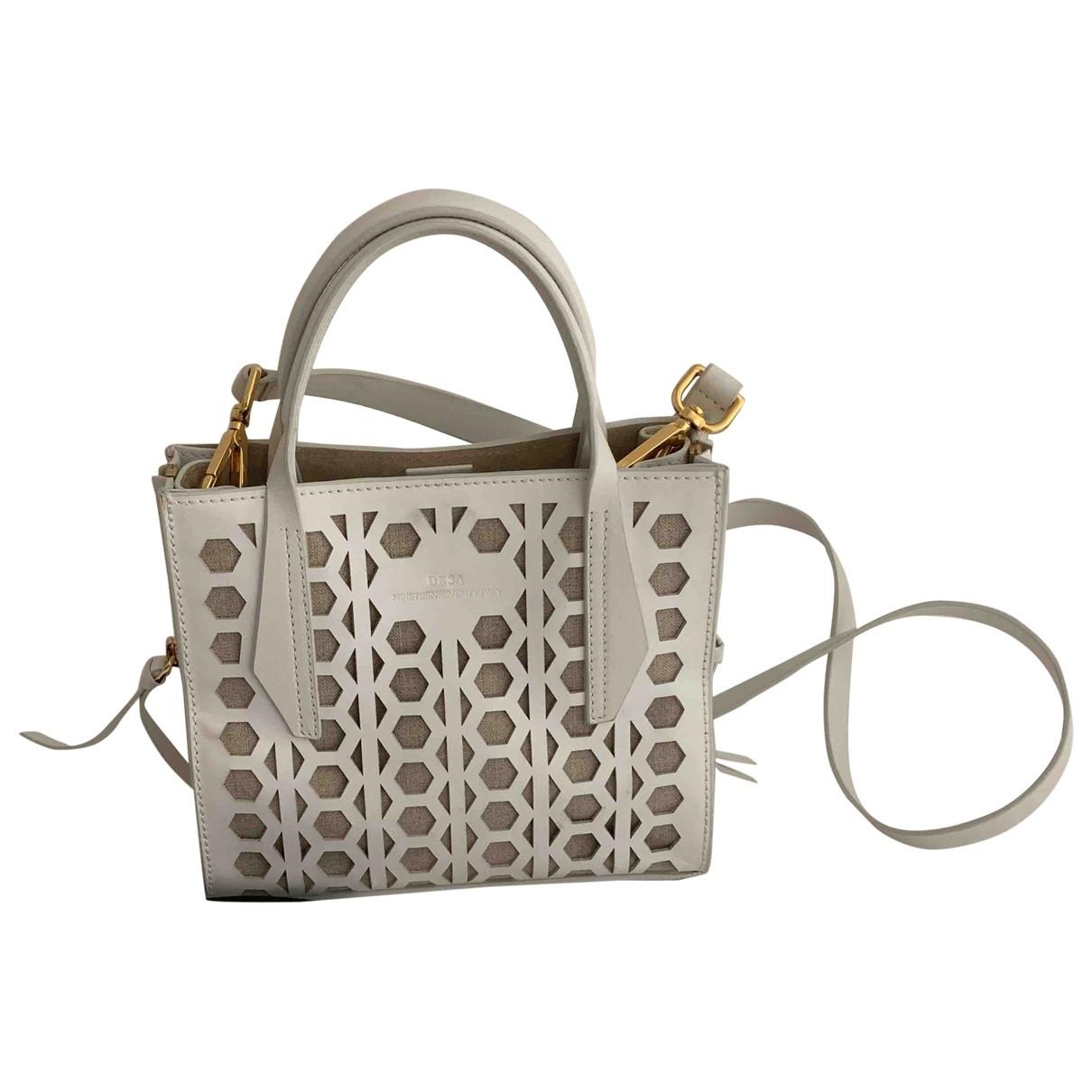 Desa \N White Leather handbag for Women \N