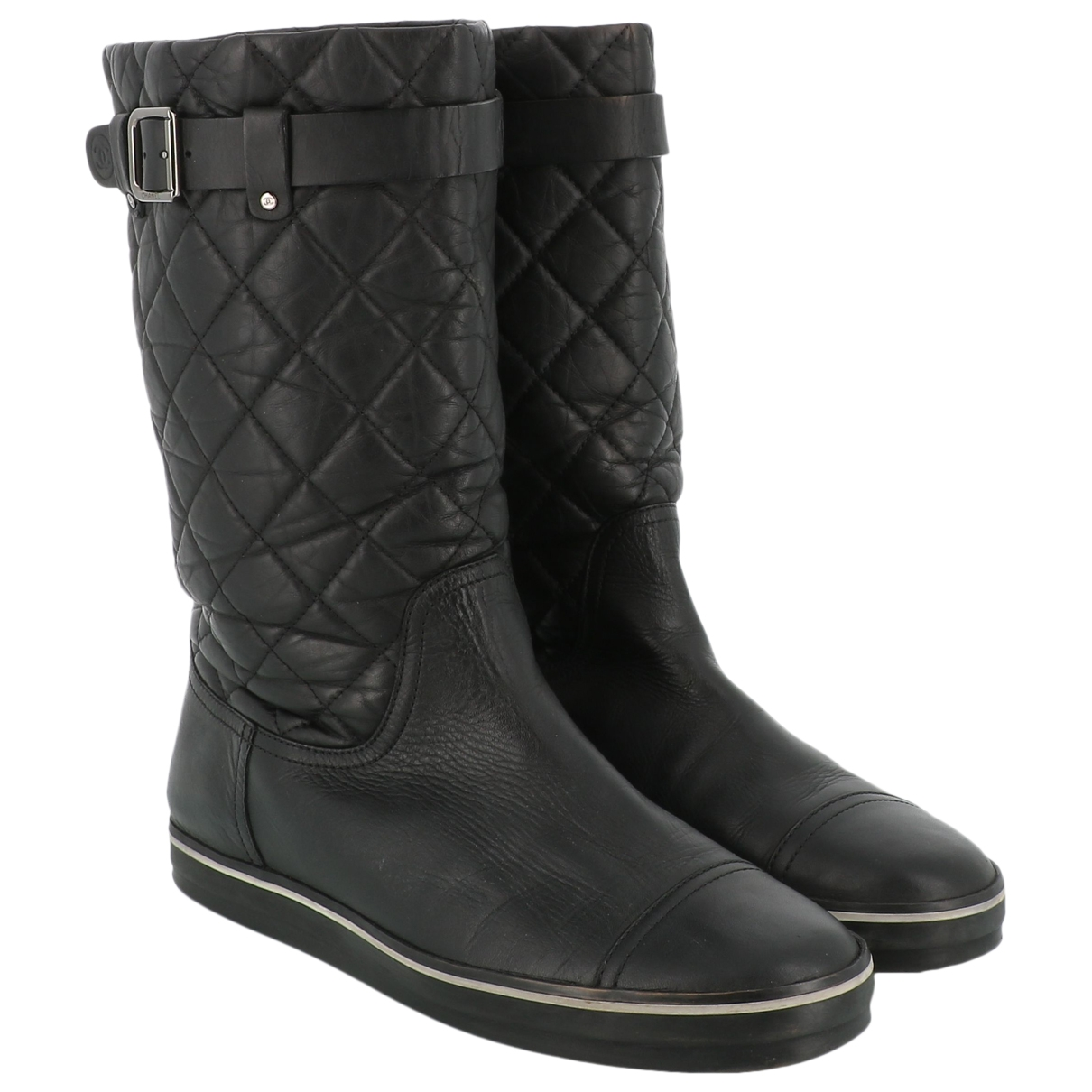Chanel \N Black Leather Boots for Women 40 EU