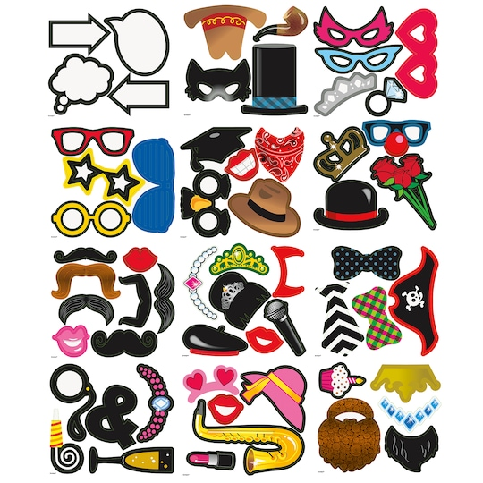 Photo Booth Props, Assorted 60Pc By Unique   Michaels®