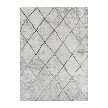Momeni Matrix Rectangular Indoor Rugs, One Size , Gray