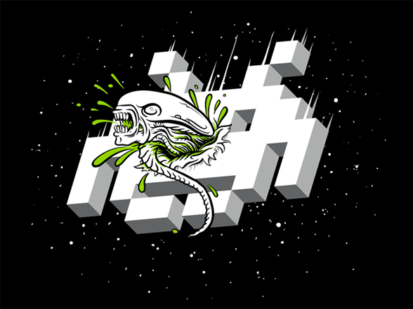 Alien Invader T Shirt
