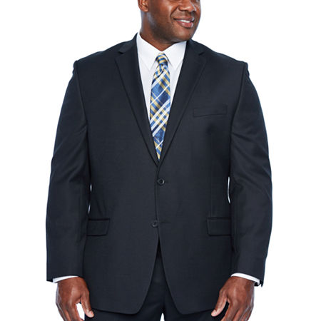Collection by Michael Strahan Collection By Michael Strahan Mens Stretch Regular Fit Suit Jacket-Big and Tall, 52 Big Long, Black