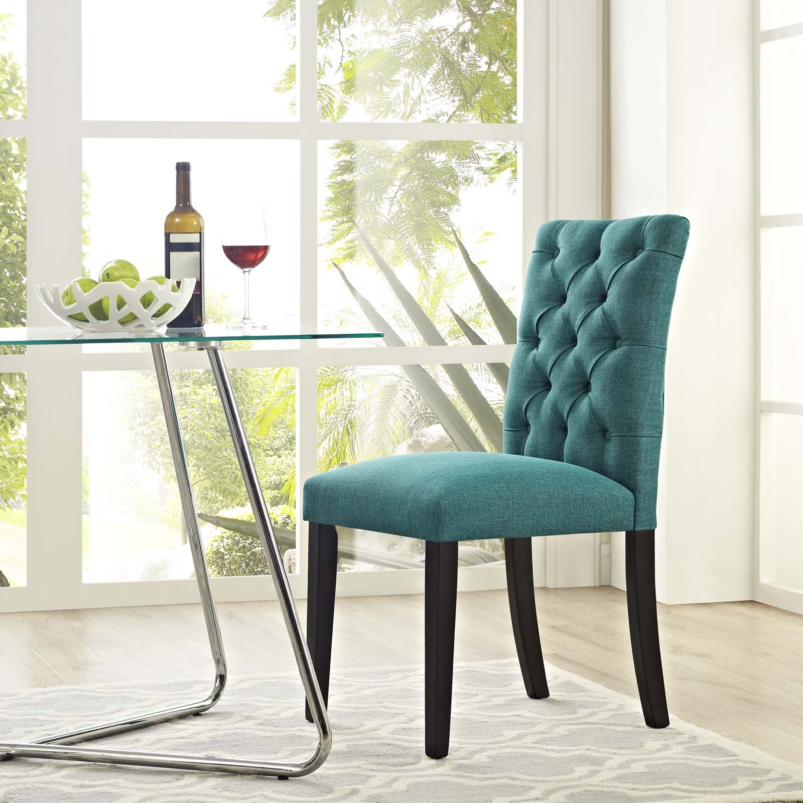 Duchess Fabric Dining Chair in Teal