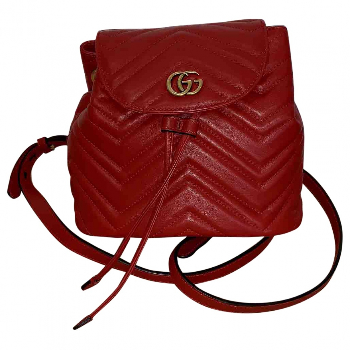 Gucci Marmont Red Leather backpack for Women \N