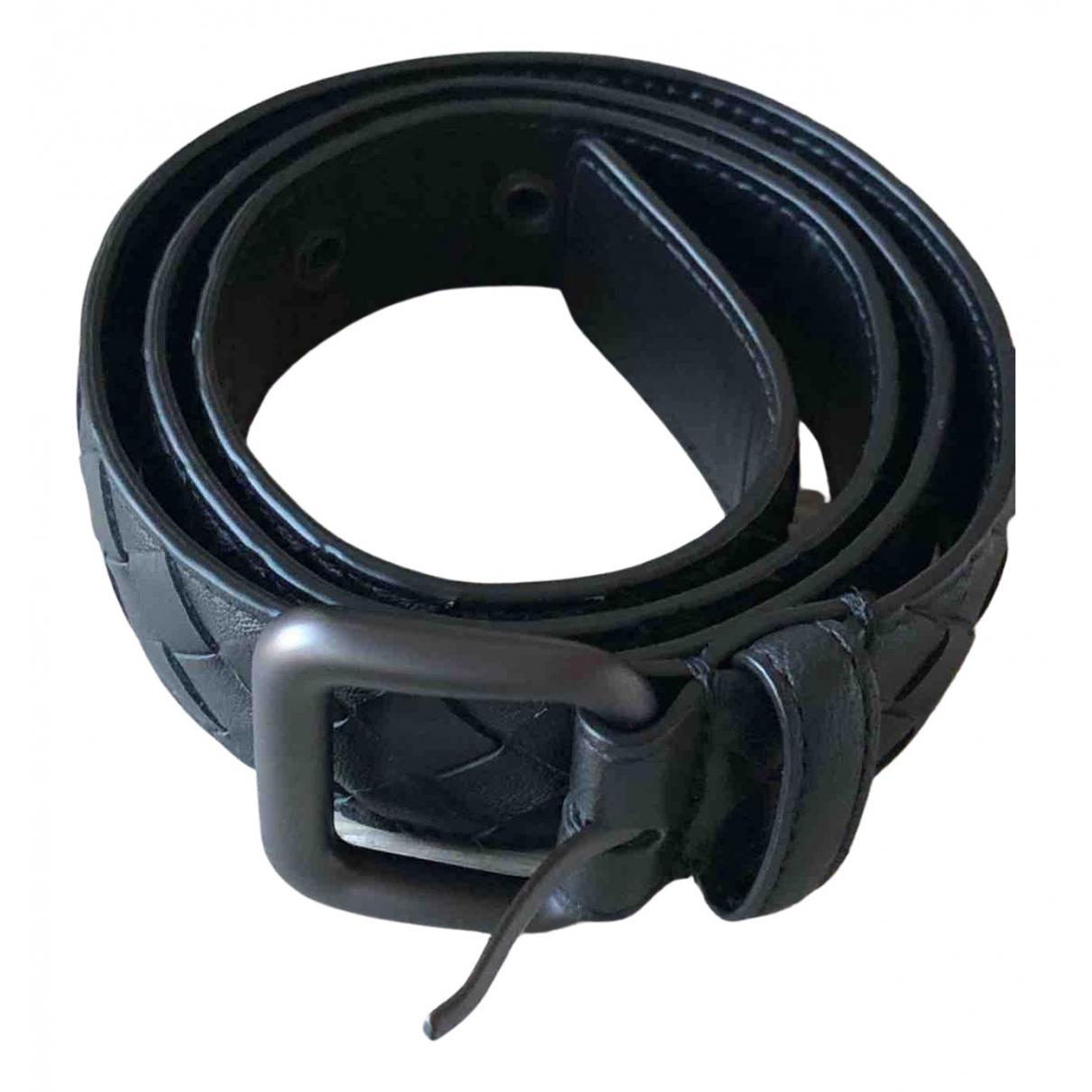 Bottega Veneta \N Black Leather belt for Women 80 cm