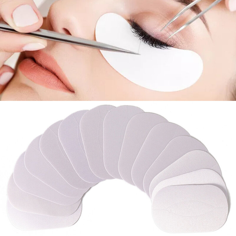 50 Pairs Silk Eyelashes Grafting Patches Kit Under Eye Mask Lashes Extension Pad Stickers