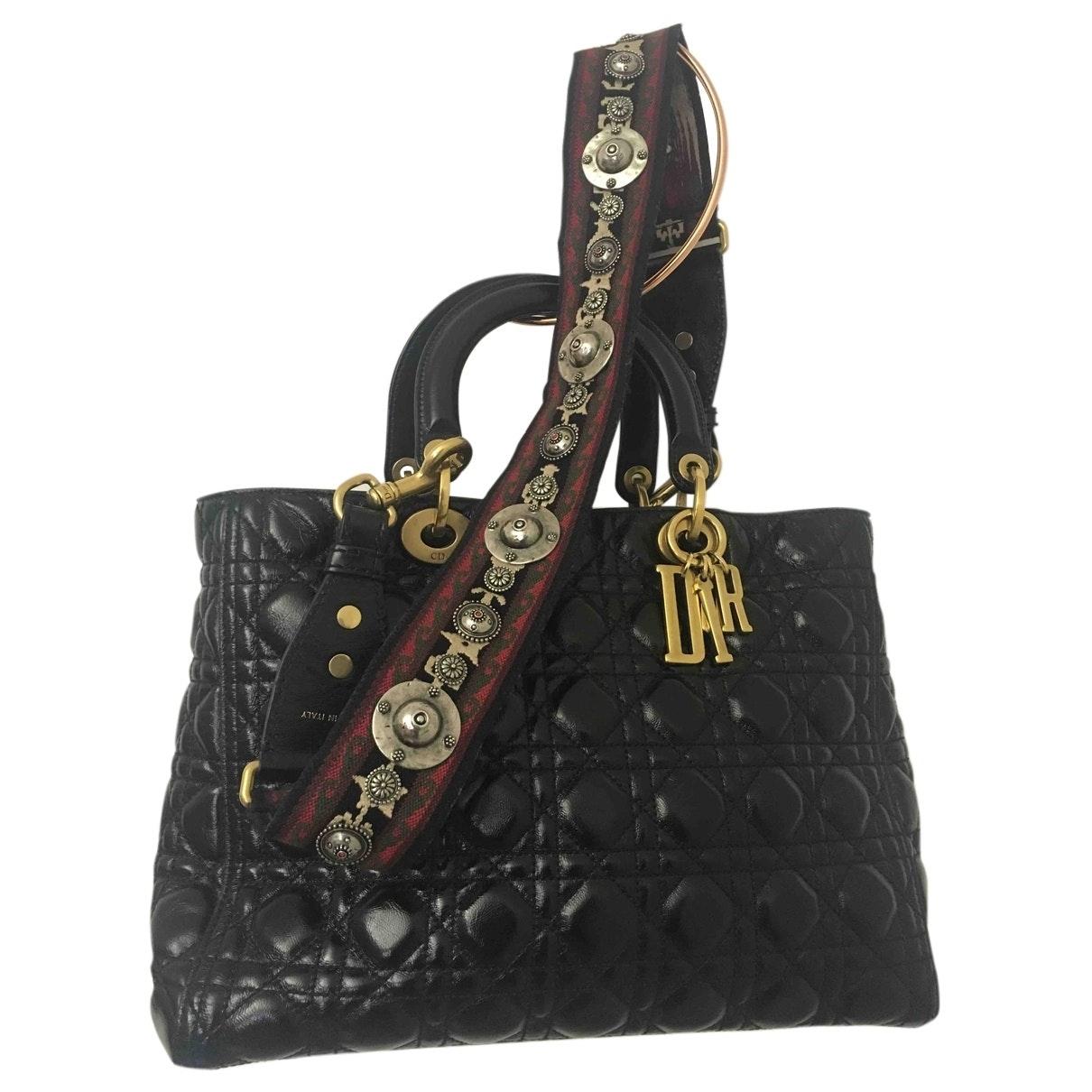 Dior My Lady Dior Black Leather handbag for Women \N