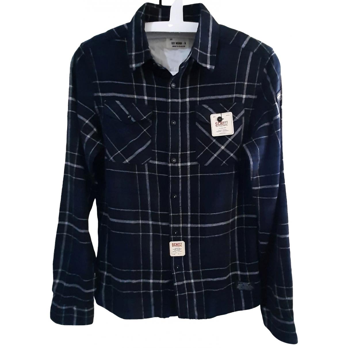 Schott \N Multicolour Cotton Shirts for Men S International