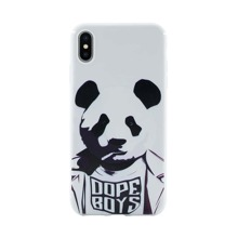 Abstract Panda Pattern iPhone Case