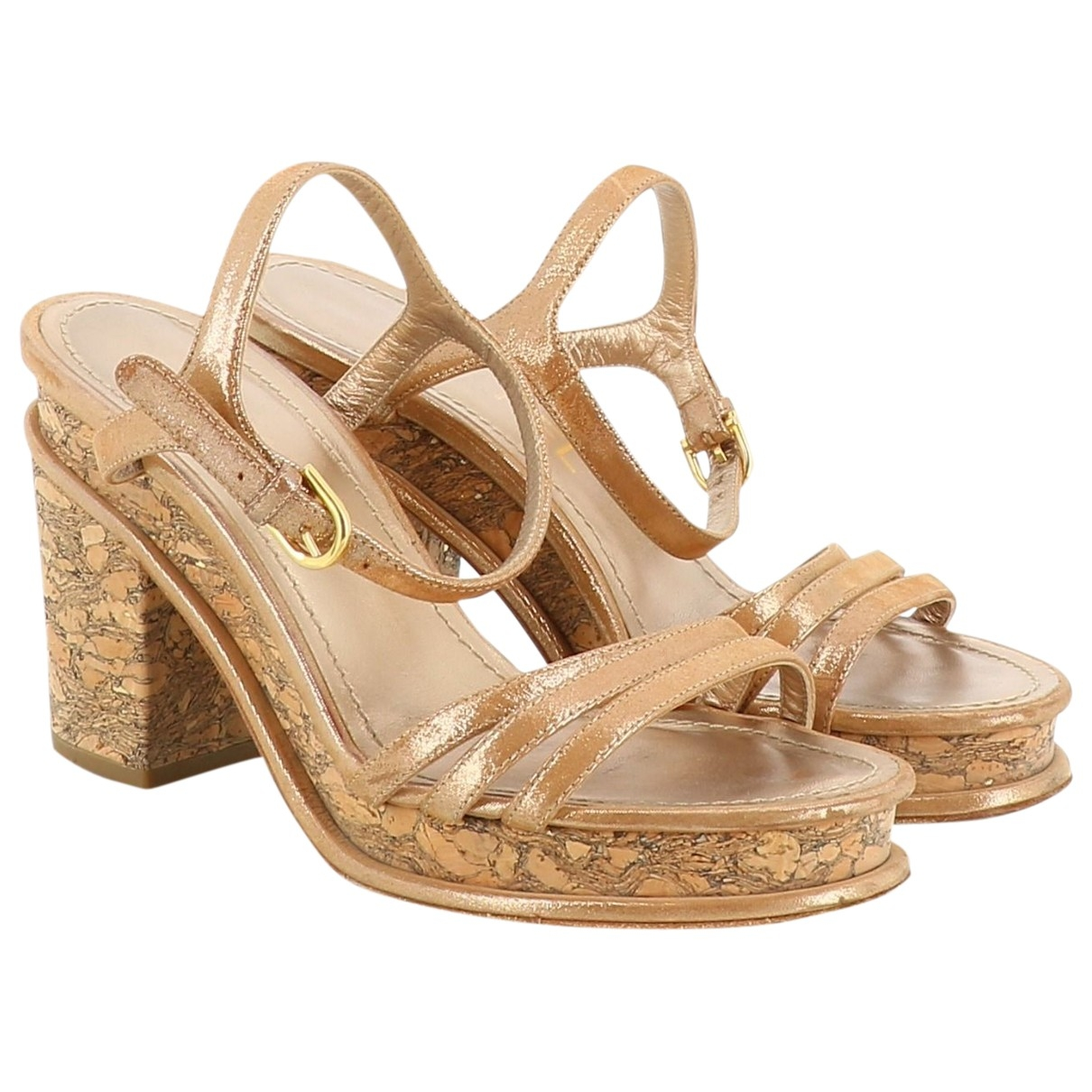 Chanel \N Camel Leather Sandals for Women 36 EU