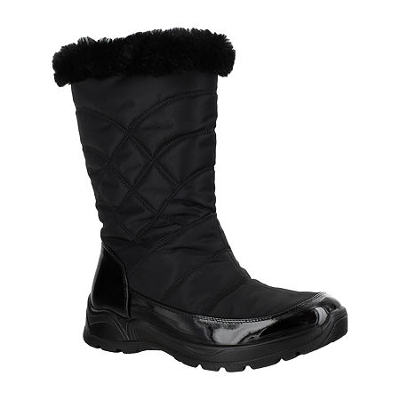 Easy Street Womens Cuddle Waterproof Winter Boots, 7 1/2 Medium, Black