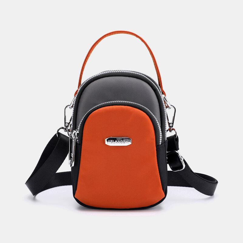 Women Waterproof Patchwork Casual Shoulder Bag Handbag