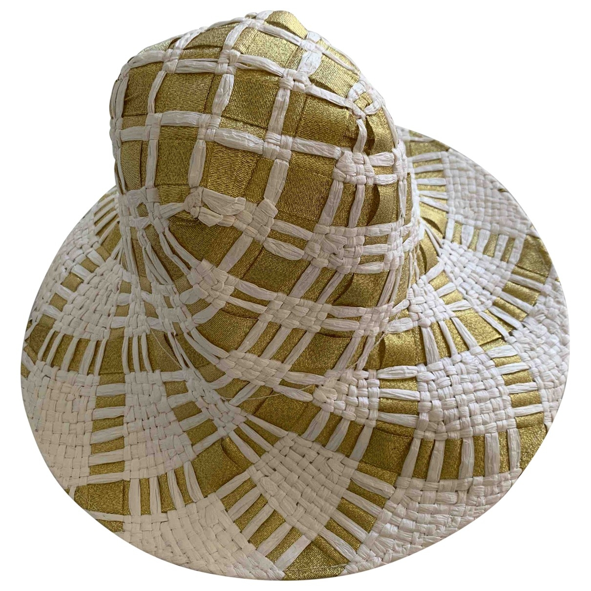 Non Signé / Unsigned \N Gold hat for Women 56 cm