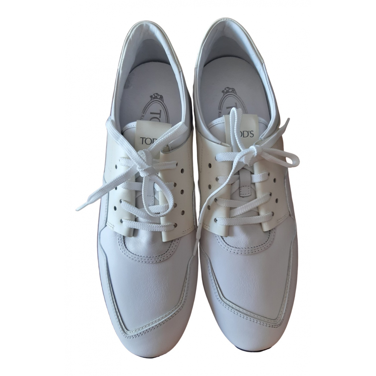 Tod's \N White Leather Trainers for Men 7.5 US