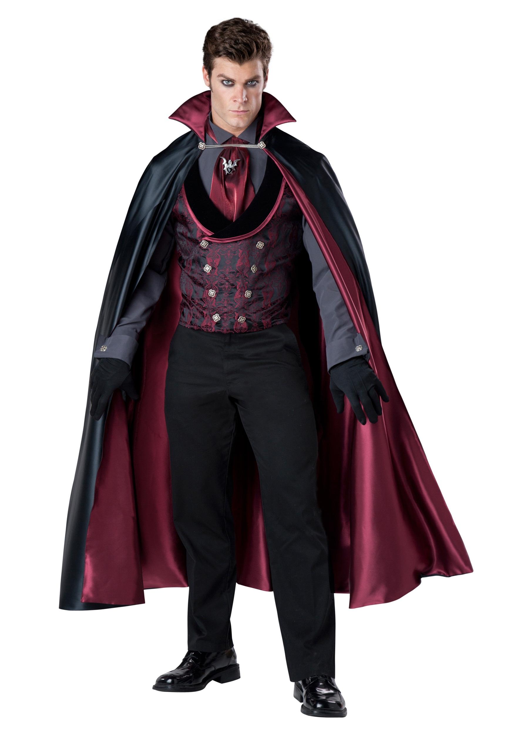 Nocturnal Count Vampire Men's Costume