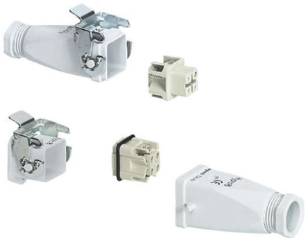 Legrand Heavy Duty Power Connector, 0531 2 Way Male/Female 10A Connector Kit, includes Socket with Lock, Top Entry Plug