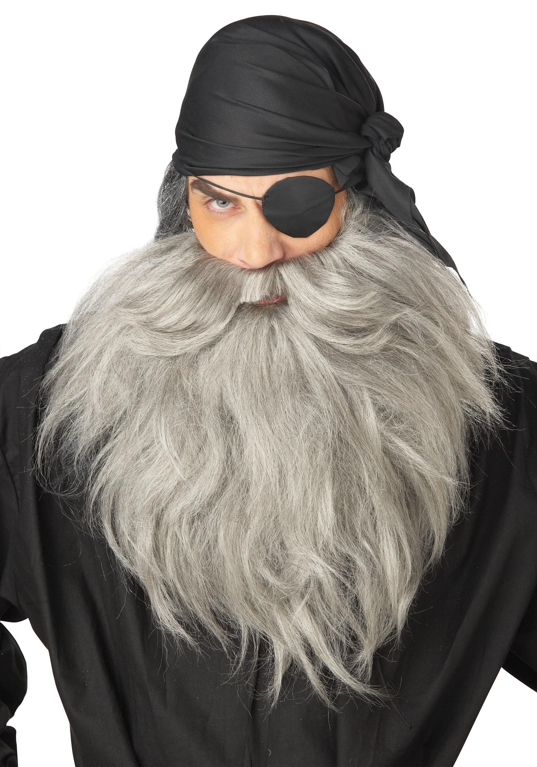 Men's Grey Pirate Beard