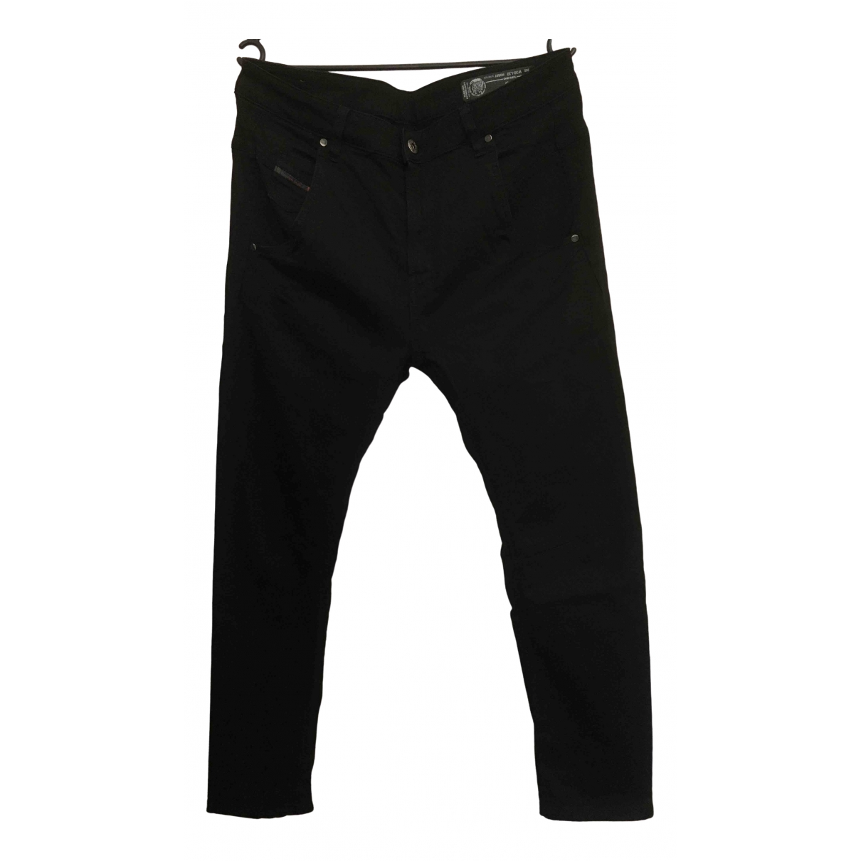 Diesel \N Black Cotton Trousers for Women 42 FR