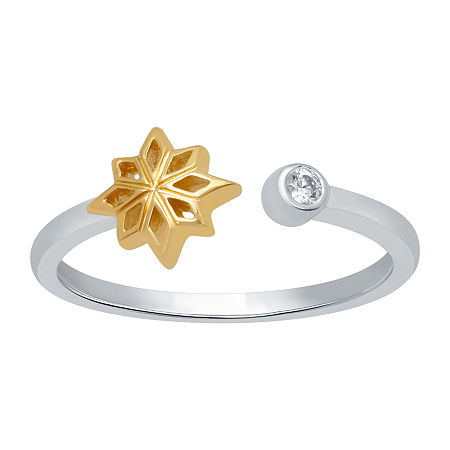 Marvel Universe Fine Jewelry By Marvel Womens Diamond Accent Genuine White Diamond 14K Two Tone Gold Over Silver Marvel Cocktail Ring, 6 , No Color Fa
