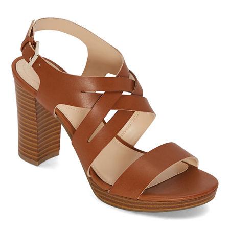 Liz Claiborne Womens Prime Heeled Sandals, 8 Medium, Brown